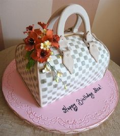 Custom Purse Birthday Cake for Mom - Custom purse birthday cake for that special mom.