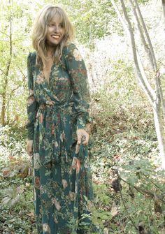 The Romance Chiffon Floral Maxi Dress