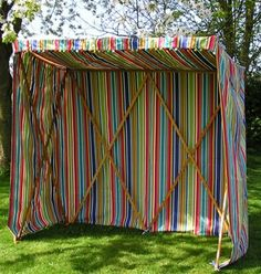 Deckchair Stripe Beach Hut