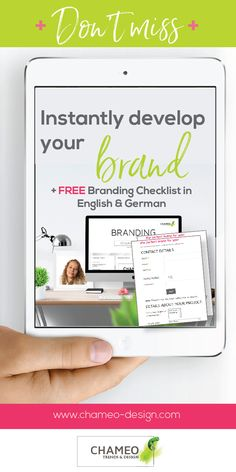 About to start your own business or blog? Congratulations. Chameo Design is specialized in Branding design. We offer free Branding checklists for your logo, CI colors, font + typo recommendations, inspiration, business cards, stationary, webdesign as well as trend research.