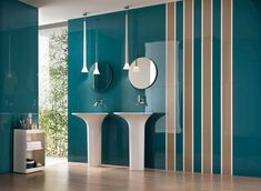 PLAY: electric blue #wall #covering #bathroom #design #blue