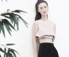 MAIKA layered cropped top - AINE SPRING SUMMER 2016 - #blush #top #flared #crop
