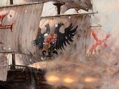 """"""" Blas de Lezo en Cartagena de Indias """" Antonio Navarro Menchón El 24 de agosto de 1247 comenzó el largo asedio de las... Military Art, Military History, Portugal, Nautical Art, Ol Days, Tall Ships, Sailing Ships, Renaissance, Medieval"""