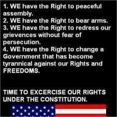 Time to exercise our rights under the Constitution