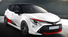 This rendering shows what it'd look like if the Toyota Auris went after the VW GTI and Civic Type R. Toyota Corolla Hatchback, Hatchback Cars, Toyota Avensis, Toyota Celica, Toyota Vios Modified, Auris Toyota, Corolla Twincam, 4x4, Automobile