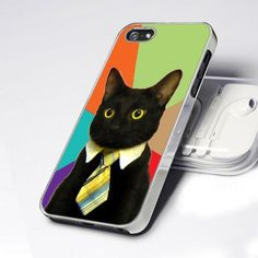 CDP 0706 Office Business Cat Tie design for iPhone 5 case