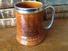 Vintage England Pottery Tankard Stein Beer by JansVintageStuff