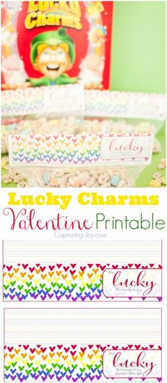 DIY your photo charms, 100% compatible with Pandora bracelets. Make your gifts special. Make your life special! Lucky Charms Valentine Printable