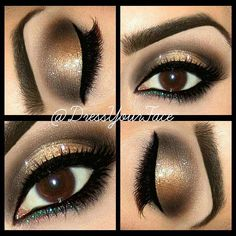 Lovely Brown Eye Makeup