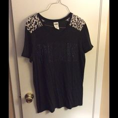 Victoria's Secret Pink Cheetah Rhinestone Top Worn twice. Great condition! Victoria's Secret Tops Blouses