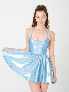 Shiny Figure Skater Dress - american apparel so cute for cinderella!