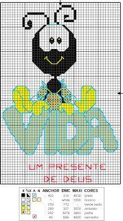 Atelier da Kátia: SMILINGUIDO - PONTO CRUZ