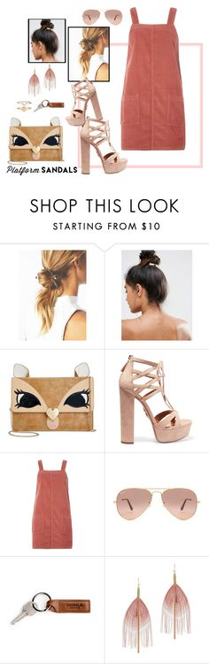 """Darl'n"" by jennross76 ❤ liked on Polyvore featuring Kitsch, Betsey Johnson, Aquazzura, Dorothy Perkins, Ray-Ban, Serefina and Accessorize"