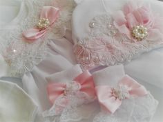 Newborn Girl Coming Home Outfit Designer Set_White Lace with Pink Accents_Christening Gown - - Cute Baby Girl Outfits, Dresses Kids Girl, Toddler Outfits, Outfit Designer, Baby Unicorn, Unicorn Hat, Baby Girl Newborn, Baby Girls, Girls Coming Home Outfit