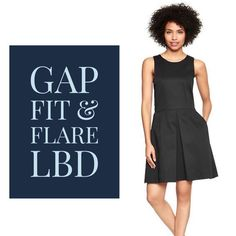 "Gap Fit & Flare Little Black Dress Little Black Dresses are always there for you in a pinch. Wear it to work, out for a date, or with your girls. Or to church, or to meet the parents (or your daughter's new girlfriend!). In short, this dress can solve any wardrobe query. Unless you're heading to the gym. This is too pretty for that. Worn less than 5 times; still in great shape (with side POCKETS!) Laid flat waist measurement 18"" Waist to hem 20"" Top of shoulder to hem 38"" GAP Dresses"