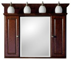 Strasser Woodenworks Homestyle II Medicine Cabinet with Lights modern medicine cabinets