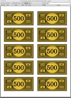 Monopoly Money Pdf