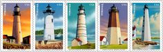 Later this year, celebrate the history—and mystery—of New England's coastal lighthouses with five new stamps featuring detailed illustrations of the Boston Harbor, Portland Head, New London Harbor, Point Judith, and Portsmouth Harbor lights. So gorgeous!