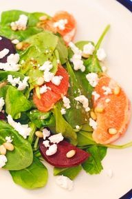Spinach and beet sal - http://stoner.bl.ee/2014/01/spinach-and-beet-sal/