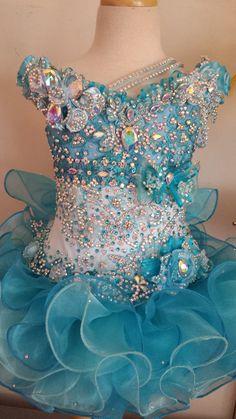 Beautiful Caribbean blue two toned mega glitz pageant dress. Make an offer.. designer_05@yahoo.com