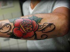 Brilliant Forearm Rose Tattoos For Men