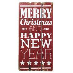 cartel de madera de navidad