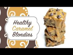 Healthy Caramel chocolate Chip Chickpea Blondies - Guilt free dessert that's vegan, gluten free, dairy free, nut free, low carb and refined sugar free Vegan Chickpea Recipes, Healthy Vegan Desserts, Almond Recipes, Dairy Free Recipes, Healthy Snacks, Gluten Free, Healthy Carbs, Paleo Recipes, Vegan Recipes Main Course