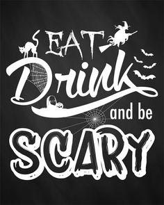 printable Halloween art set