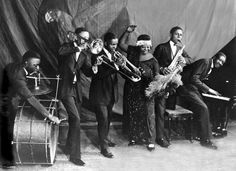 Ma Rainey - The singer Ma Rainey with a band in an undated photo. Credit Columbia Records