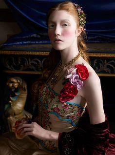 ❀ Flower Maiden Fantasy ❀ beautiful photography of women and flowers - Renaissance by Caroline Knopf