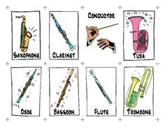 This is a PDF file of a set of the main Musical Instruments in the Orchestra.  24 cards total to be used to play card games like Go Fish! or Memory.
