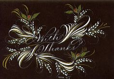 Ink Flourishes: Thank You Note