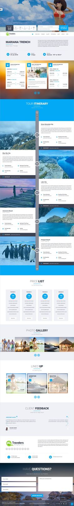Travellers is a wonderful 5in1 responsive #WordPress theme for professional #tour and #travel agencies landing page websites download now➩ https://themeforest.net/item/travellers-tour-travels-landing-page-wordpress-theme/19317264?ref=Datasata