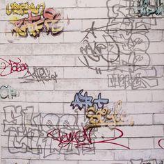 Обои бумажные 0,53х10 м, граффити, серый