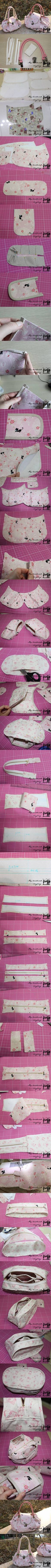 DIY Sew Cute Handbag diy craft crafts craft ideas diy ideas diy crafts how to tutorial diy accessories fashion crafts craft handbag