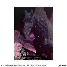 Black Beauty Friesian Horse - Acrylic Art Photo Composition, Friesian Horse, Animal Posters, Animals Of The World, Acrylic Art, Custom Posters, Custom Framing, Moose Art, Greeting Cards