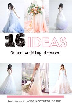 With the traditional wedding out of the window there is no better time than consider an alternative wedding dress style. These fabulous ombre wedding dresses are right on trend as well being feminine and romantic. #ombreweddingdress Ombre Wedding Dress, Stunning Wedding Dresses, Classic Wedding Dress, Wedding Dress Trends, Colored Wedding Dresses, Wedding Dress Styles, Boho Wedding Dress, Mermaid Wedding, Wedding Dress Illusion Back