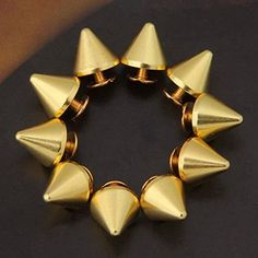 Vikeva 10 Set Gold Screw Bullet Rivet Spike Studs Spots DIY Rock Punk 12x11mm >>> Check out the image by visiting the link.