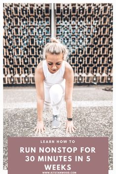 Learn how to run for 30 minutes nonstop in just 5 weeks! Check out my easy daily running schedule. Health And Fitness Tips, Health And Wellness, Health Tips, Women's Health, Running Schedule, Exercise Schedule, Exercise Cardio, Fitness Workouts, Free Fitness