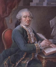 Anon, 1750: Portrait of a Gentleman writing in a book