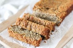 Paleo Banana Bread recipe made easily in a blender using almond flour and pure maple syrup