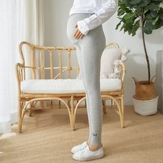 The matenrity pants with belt embroidery knit cotton high waist is so casula and you may like it. #maternitypants #maternitypants #maternitypantspattern #maternitypantspatternsewing #comfortablematernitypants #maternitypantsoutfit #maternitypantsoutfitcasual Clothes For Pregnant Women, Clothes For Women, Soft Pants, Maternity Pants, High Waist, Pants For Women, Leggings, Belt, Embroidery