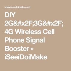 Diy boost cell phone signal in house