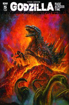 Godzilla : Rage Across Time # 5 by Bob Eggleton