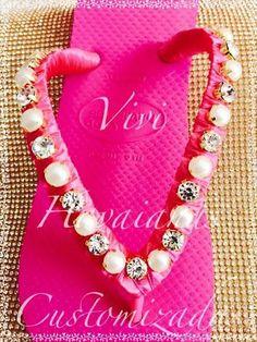 Havaianas customizadas#linda#josii