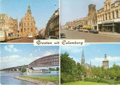 Oude ansichtkaart van Culemborg. De Groeten uit Culemborg.