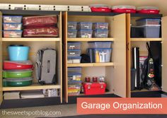 Garage Organization by The Sweet Spot Blog