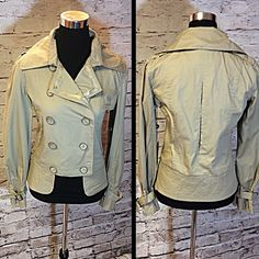 URBAN OUTFITTERS ALPHA INDUSTRIES KHAKI JACKET This is perfect the perfect weight for spring and fall. Double breasted button front and a banded waist for a fitted style NWT. HIC-2 Urban Outfitters Jackets & Coats