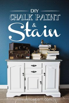 DIY Chalk Paint and Stain Tutorial on { lilluna.com } #chalkpaint