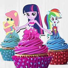 Mis primeros Little Pony Equestria por FancymyCupcakeTopper en Etsy                                                                                                                                                     Más
